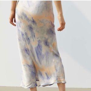 UO Lana Tie-dye Bias Skirt